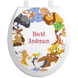 Animals Toilet Seat Decal (Personalized)