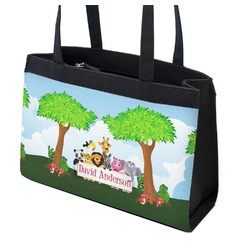 Animals Zippered Everyday Tote w/ Name or Text