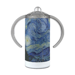 The Starry Night (Van Gogh 1889) 12 oz Stainless Steel Sippy Cup