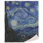 The Starry Night (Van Gogh 1889) Sherpa Throw Blanket