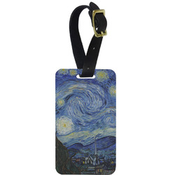 The Starry Night (Van Gogh 1889) Aluminum Luggage Tag