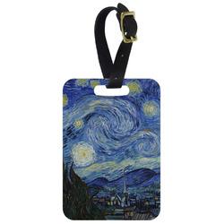 The Starry Night (Van Gogh 1889) Aluminum Luggage Tag