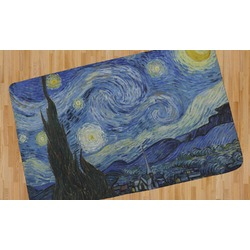 The Starry Night (Van Gogh 1889) Area Rug