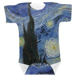 The Starry Night (Van Gogh 1889) Baby Bodysuit