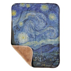 "The Starry Night (Van Gogh 1889) Sherpa Baby Blanket 30"" x 40"""