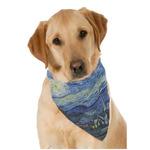 The Starry Night (Van Gogh 1889) Dog Bandana Scarf
