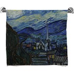 The Starry Night (Van Gogh 1889) Full Print Bath Towel