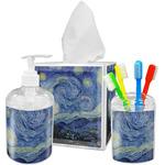 The Starry Night (Van Gogh 1889) Acrylic Bathroom Accessories Set
