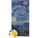 The Starry Night (Van Gogh 1889) Beach Towel