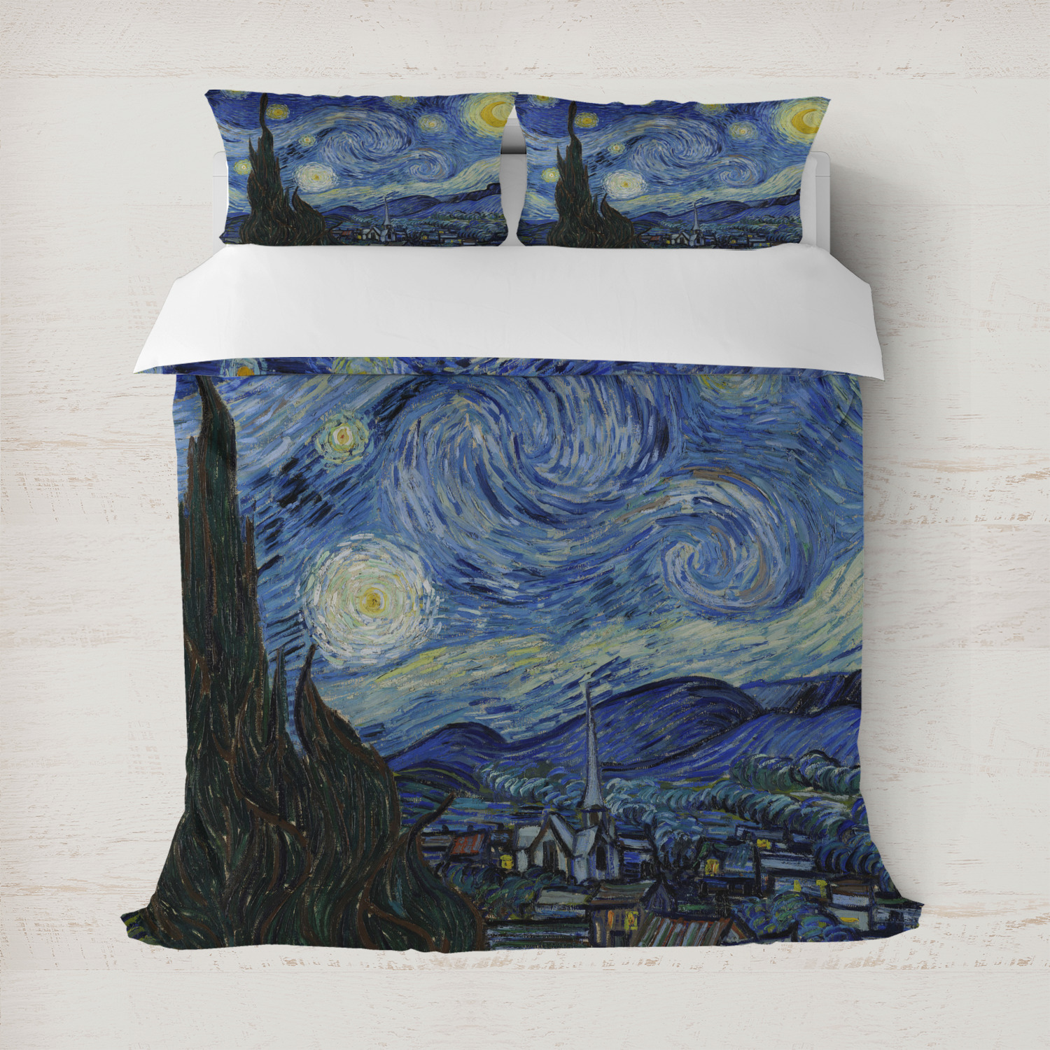 Canvas Checkbook Cover The Starry Night Van Gogh 1889