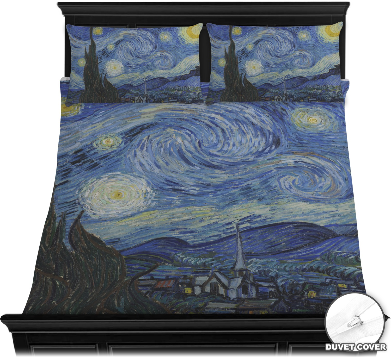 the starry night van gogh 1889 duvet cover set youcustomizeit