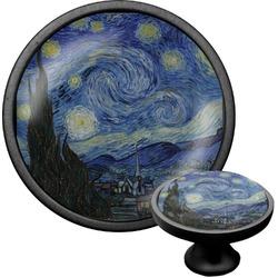 The Starry Night (Van Gogh 1889) Cabinet Knob (Black)