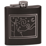 The Starry Night (Van Gogh 1889) Black Flask Set