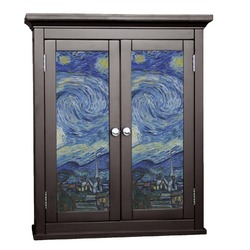 The Starry Night (Van Gogh 1889) Cabinet Decal - Large