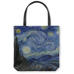 "The Starry Night (Van Gogh 1889) Canvas Tote Bag - Small - 13""x13"""