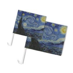 The Starry Night (Van Gogh 1889) Car Flag