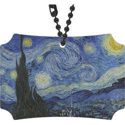 The Starry Night (Van Gogh 1889) Rear View Mirror Ornament