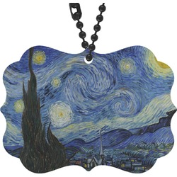 The Starry Night (Van Gogh 1889) Rear View Mirror Decor