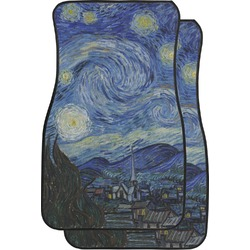 The Starry Night (Van Gogh 1889) Car Floor Mats (Front Seat)