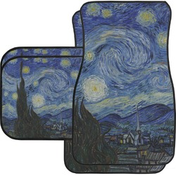 The Starry Night (Van Gogh 1889) Car Floor Mats Set - 2 Front & 2 Back