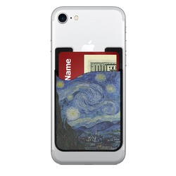 The Starry Night (Van Gogh 1889) 2-in-1 Cell Phone Credit Card Holder & Screen Cleaner
