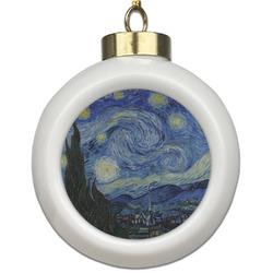The Starry Night (Van Gogh 1889) Ceramic Ball Ornament