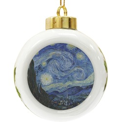 The Starry Night (Van Gogh 1889) Ceramic Ball Ornament