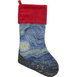 The Starry Night (Van Gogh 1889) Christmas Stocking - Single-Sided