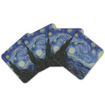 The Starry Night (Van Gogh 1889) Cork Coaster - Set of 4