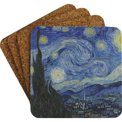 The Starry Night (Van Gogh 1889) Coaster Set w/ Stand