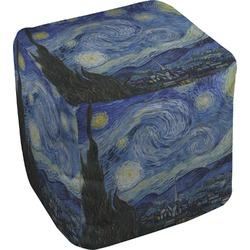 The Starry Night (Van Gogh 1889) Cube Pouf Ottoman