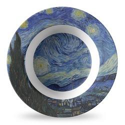 The Starry Night (Van Gogh 1889) Plastic Bowl - Microwave Safe - Composite Polymer