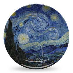 The Starry Night (Van Gogh 1889) Microwave Safe Plastic Plate - Composite Polymer