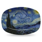 The Starry Night (Van Gogh 1889) Plastic Platter - Microwave & Oven Safe Composite Polymer