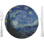 "The Starry Night (Van Gogh 1889) Glass Lunch / Dinner Plates 10"" - Single or Set"