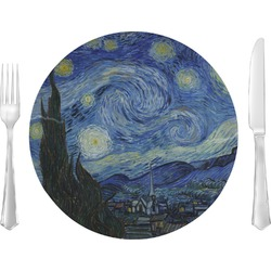 "The Starry Night (Van Gogh 1889) 10"" Glass Lunch / Dinner Plates - Single or Set"