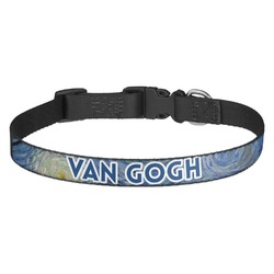 The Starry Night (Van Gogh 1889) Dog Collar - Multiple Sizes