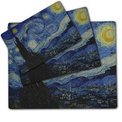 The Starry Night (Van Gogh 1889) Dog Food Mat