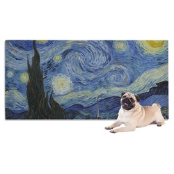 The Starry Night (Van Gogh 1889) Pet Towel