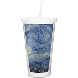 The Starry Night (Van Gogh 1889) Double Wall Tumbler with Straw