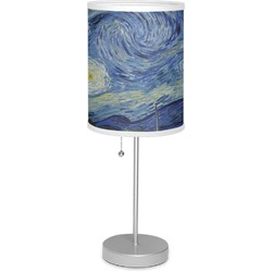 "The Starry Night (Van Gogh 1889) 7"" Drum Lamp with Shade"
