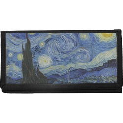 The Starry Night (Van Gogh 1889) Canvas Checkbook Cover