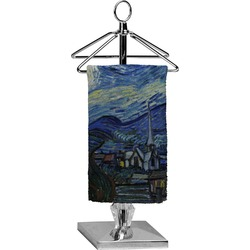 The Starry Night (Van Gogh 1889) Finger Tip Towel - Full Print