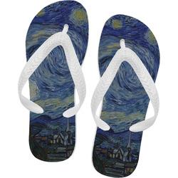 The Starry Night (Van Gogh 1889) Flip Flops