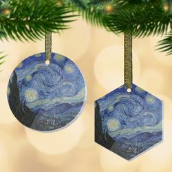 The Starry Night (Van Gogh 1889) Flat Glass Ornament