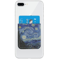 The Starry Night (Van Gogh 1889) Genuine Leather Adhesive Phone Wallet