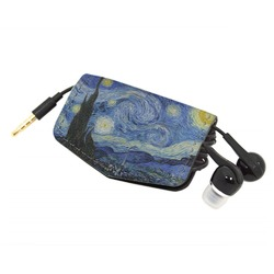 The Starry Night (Van Gogh 1889) Genuine Leather Cord Wrap