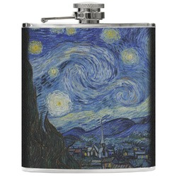 The Starry Night (Van Gogh 1889) Genuine Leather Flask