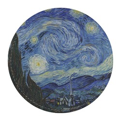 The Starry Night (Van Gogh 1889) Round Desk Weight - Genuine Leather