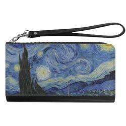 The Starry Night (Van Gogh 1889) Genuine Leather Smartphone Wrist Wallet